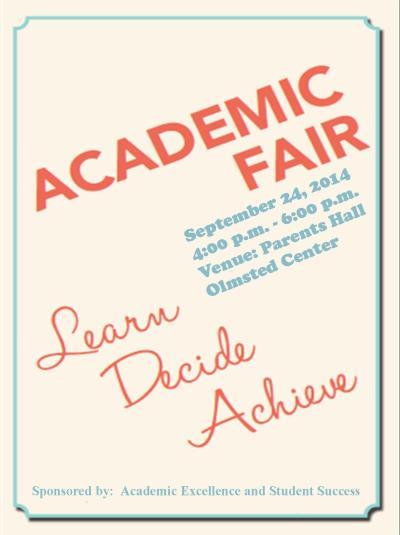 Academic Fair Poster